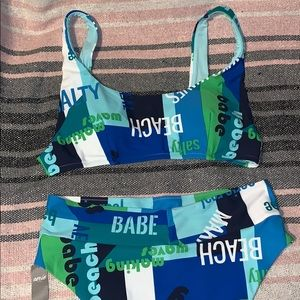 Aerie two piece swimsuit set